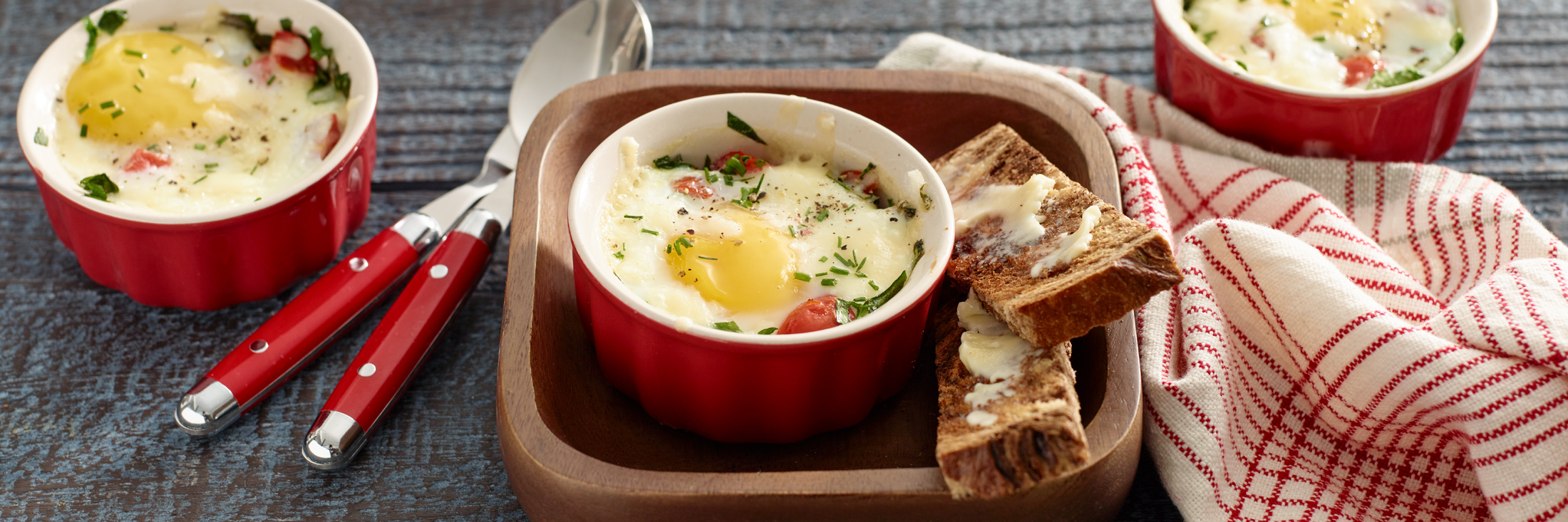 baked dipping eggs