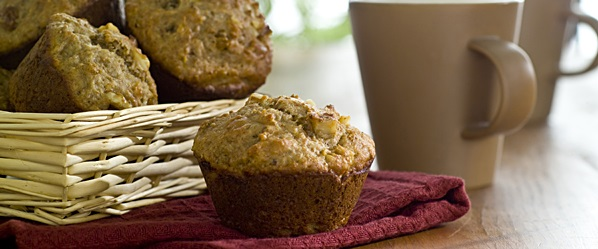 banana bran yogurt muffins