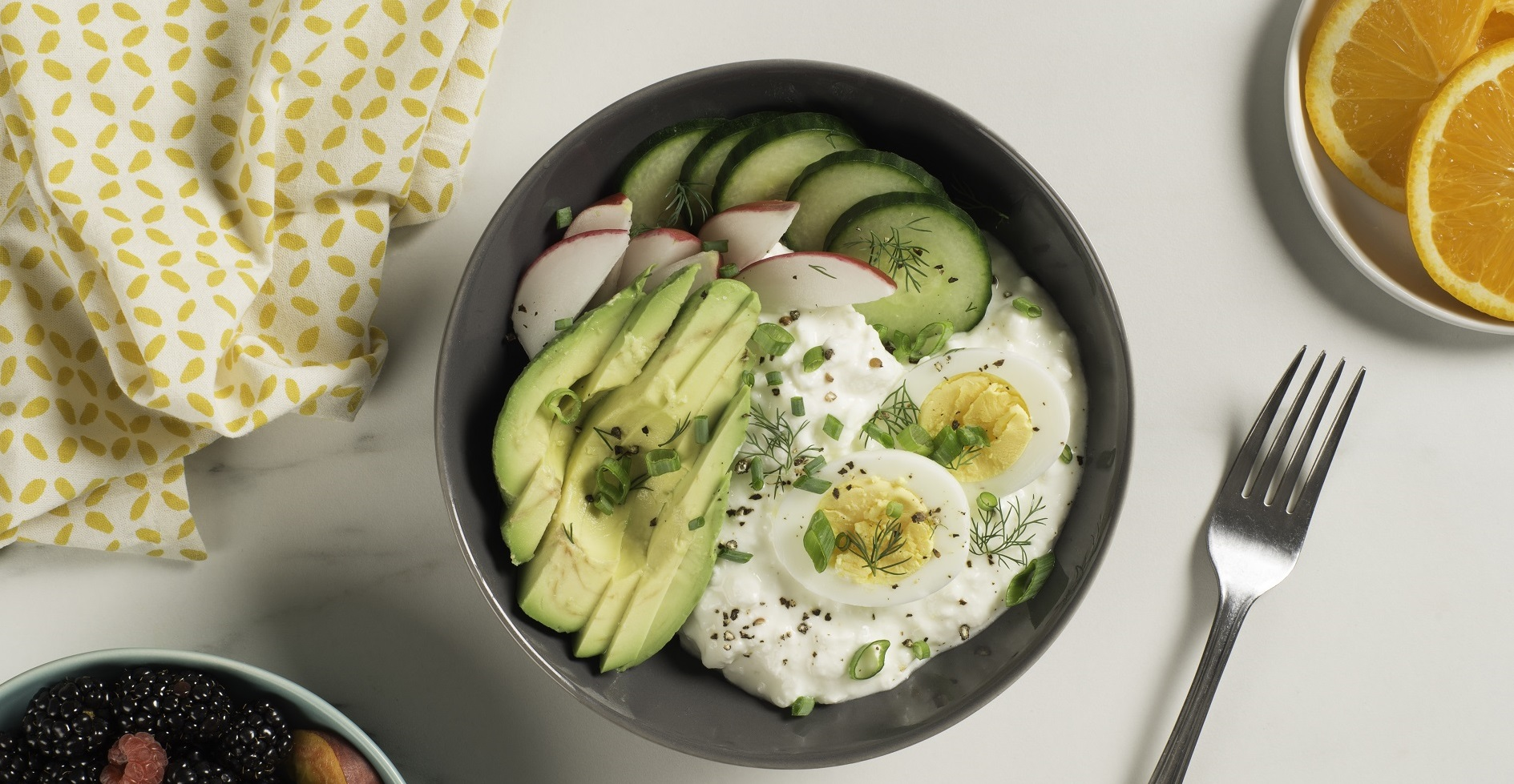 eggs and cottage cheese breakfast bowl