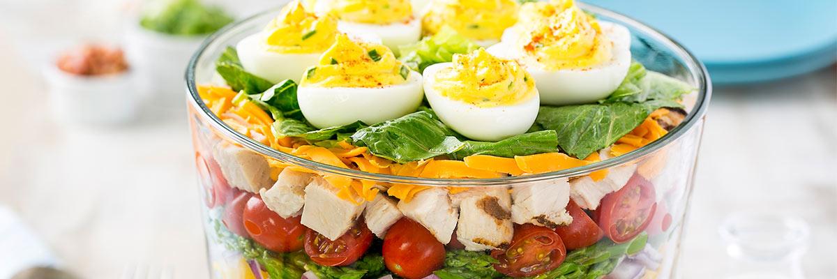 devilled egg pasta salad