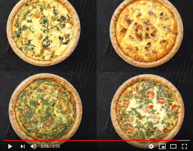 4 different types of quiches