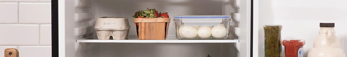 fridge with eggs