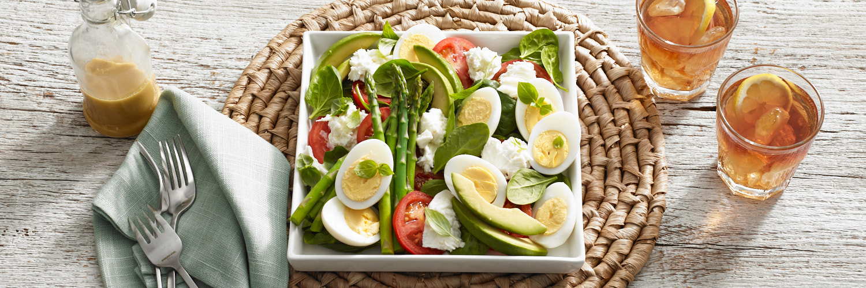 Spinach Mozzarella Salad