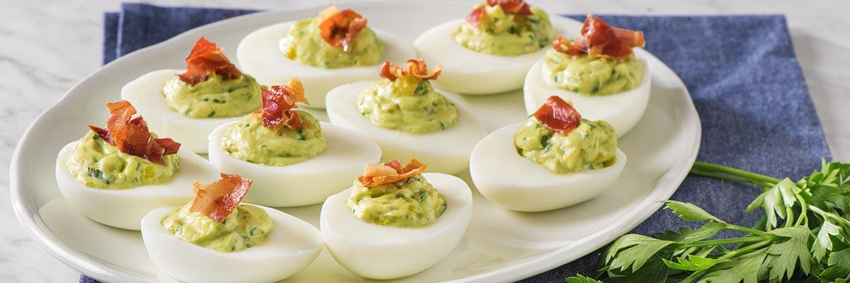 Green Goddess Devilled Eggs