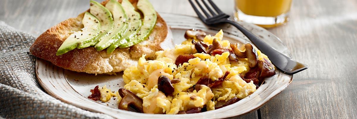Night before scrambled eggs